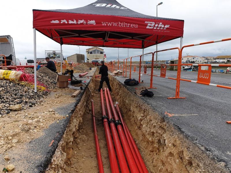 Equipement pétrolier et tuyauterie > Réseau tuyauterie double paroi HALOCK chantier COTINIERE (1,8 km de tuyauterie)